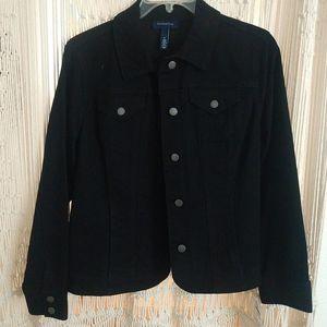 Charter Club black denim jacket